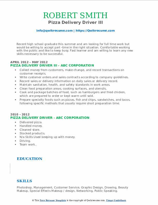 pizza delivery driver resume samples qwikresume dominos job description for pdf when you Resume Dominos Delivery Driver Job Description For Resume