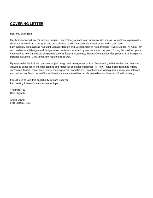 please review my resume cover letter sample for find attached and ankita oswal interior Resume Please Find Attached Resume And Cover Letter