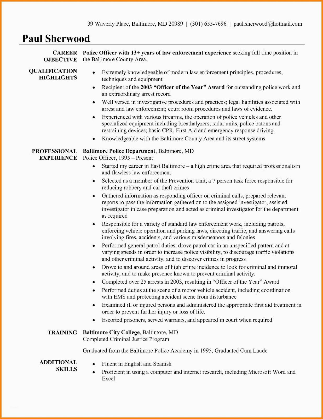 police officer resume templates free retired off objective examples statement name header Resume Police Officer Resume Objective Statement