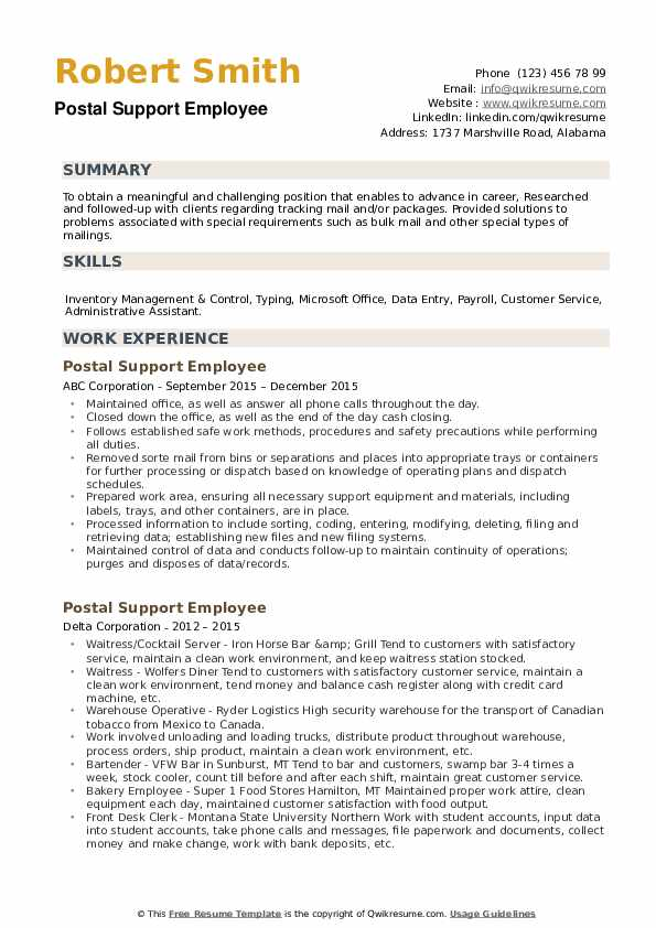 postal support employee resume samples qwikresume of microsoft pdf personality Resume Resume Of Microsoft Employee