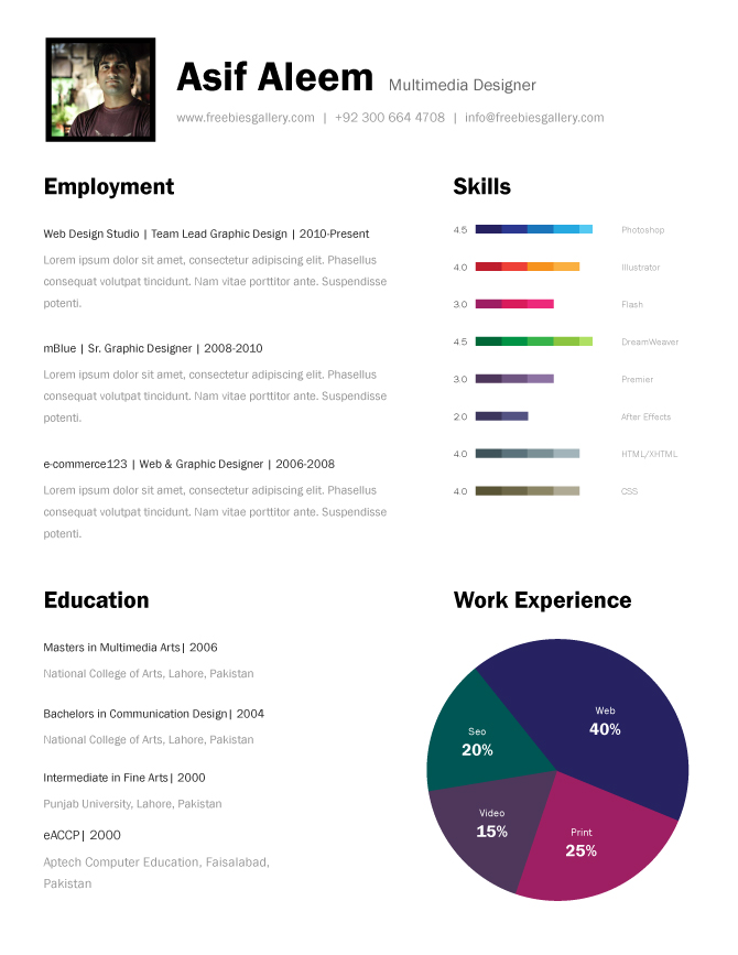 premium and free resume templates the design work template one linkedin help accounts Resume Cascade Resume Template Free