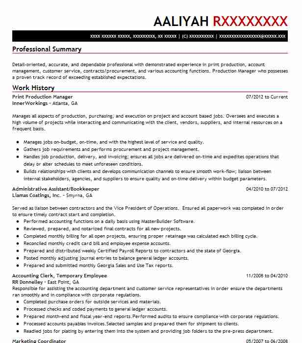 print production manager resume example chicago examples filter contoh dalam bahasa Resume Print Production Resume Examples