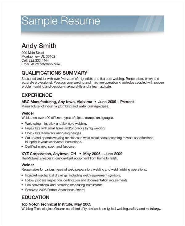 printable resume template free word pdf documents premium templates format for example Resume Printable Format For Resume