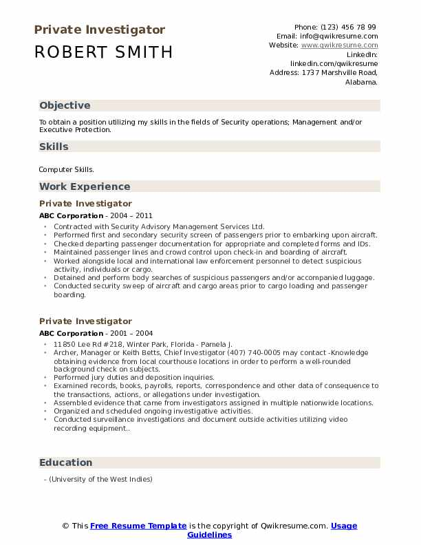 private investigator resume samples qwikresume entry level pdf sample for meter reader rj Resume Entry Level Private Investigator Resume