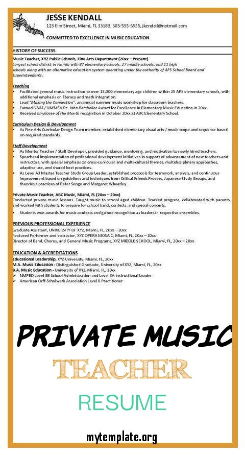 private music teacher resume free templates of lesson contract template beautiful samples Resume Private Music Teacher Resume