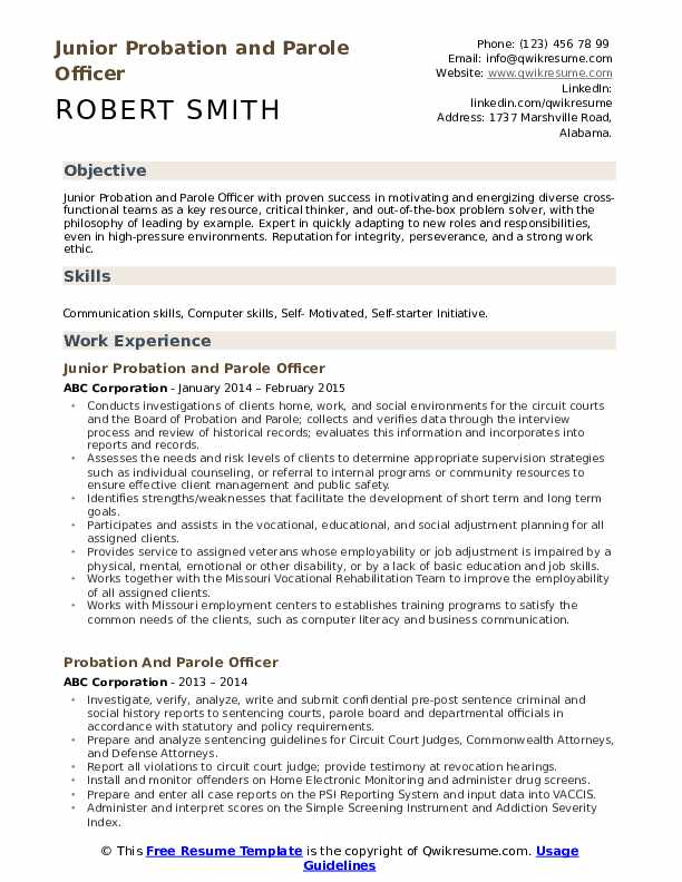 probation and parole officer resume samples qwikresume pdf objective lines for freshers Resume Probation Officer Resume