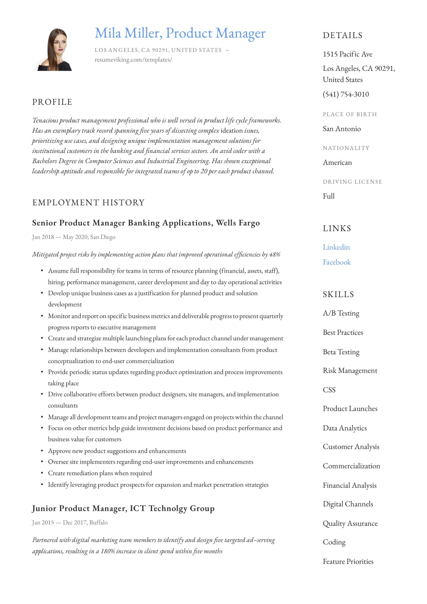 product manager resume guide samples pdf keywords scaled example of modern for Resume Product Manager Resume Keywords