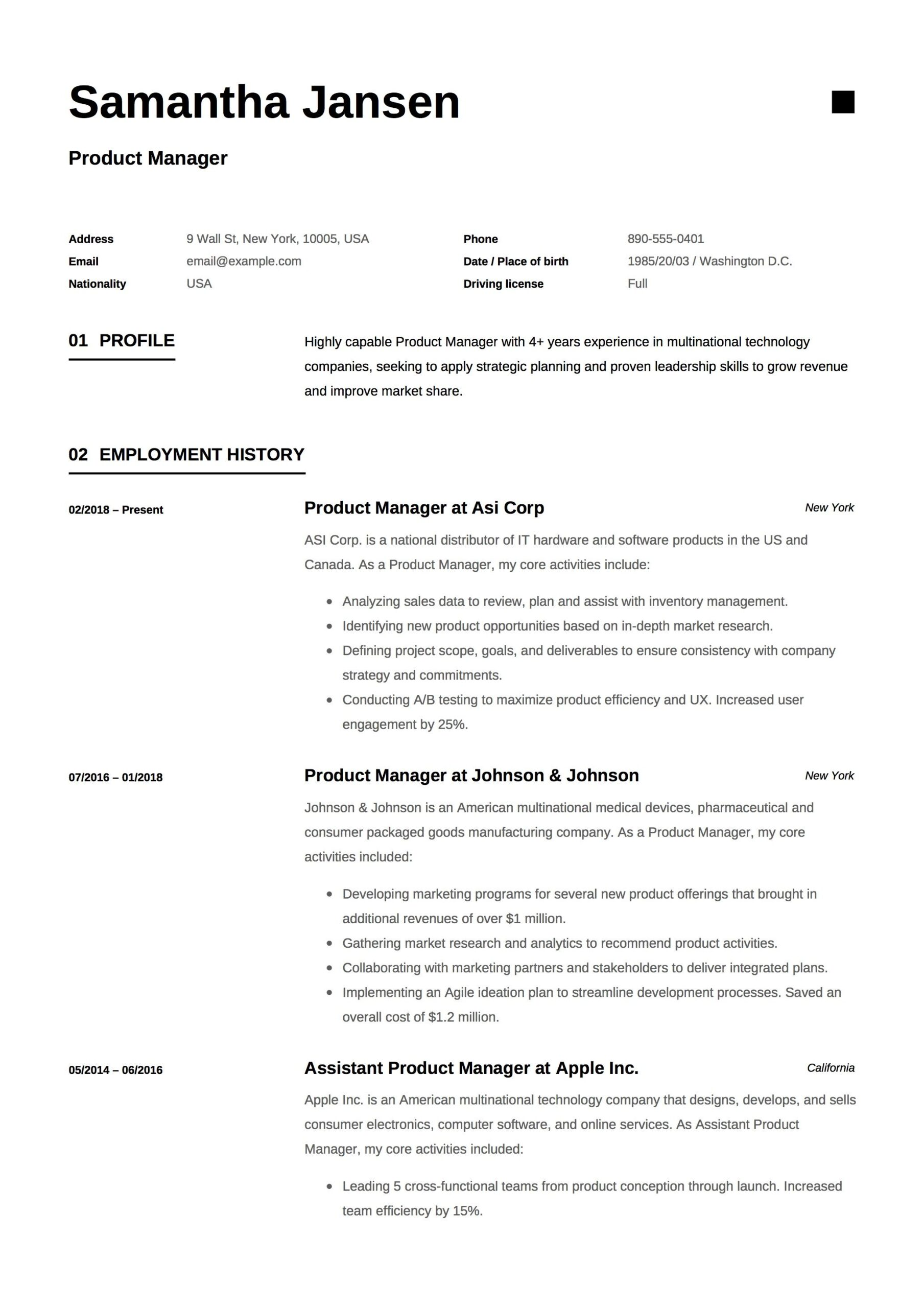 product manager resume sample template example cv formal design server guide examples Resume Product Manager Resume Sample