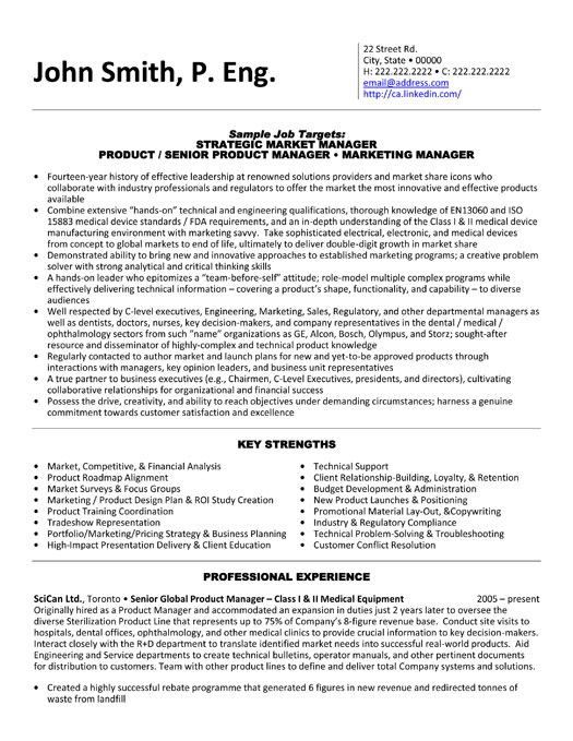 product manager resume sample template executive medical equipment social worker Resume Product Manager Resume Sample