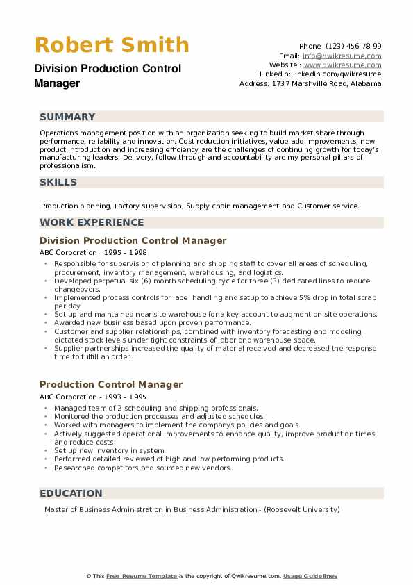 production control manager resume samples qwikresume pdf best software engineer printable Resume Production Control Manager Resume