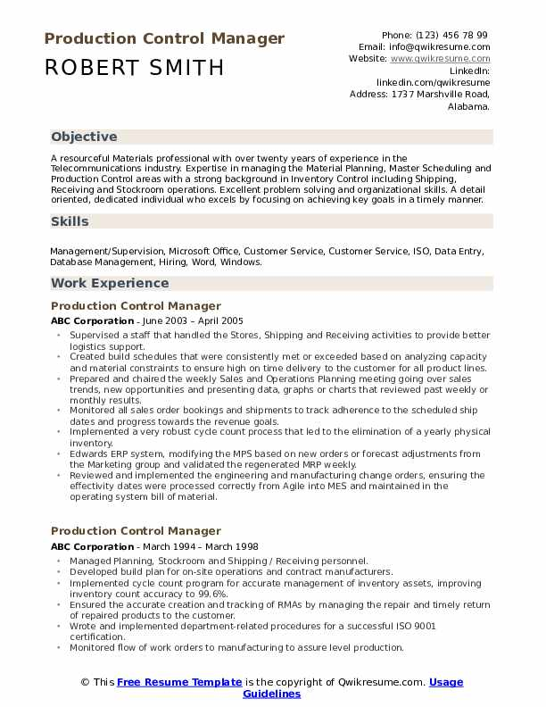 production control manager resume samples qwikresume pdf best software engineer Resume Production Control Manager Resume