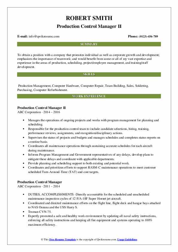 production control manager resume samples qwikresume pdf sample for teaching english Resume Production Control Manager Resume