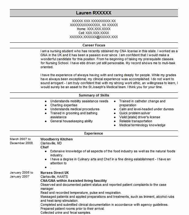 professional chef resume examples culinary livecareer entry level format for bank job Resume Entry Level Culinary Resume Examples