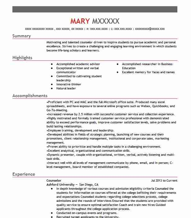 professional counselor resume examples social services livecareer job description sample Resume Counselor Job Description Resume