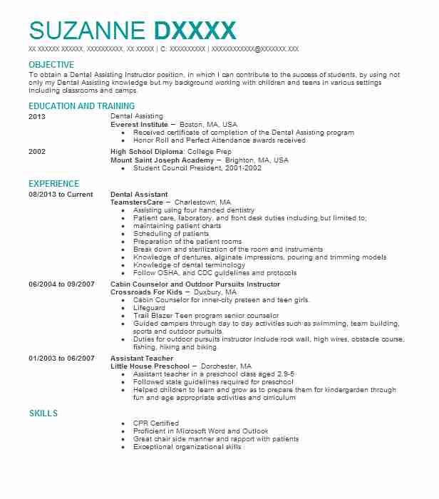 professional dental assistant resume examples dentistry livecareer template word fillable Resume Dental Assistant Resume