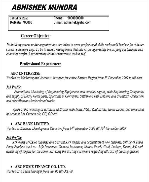 professional marketing resume templates pdf free premium objective for position account Resume Resume Objective For Marketing Position