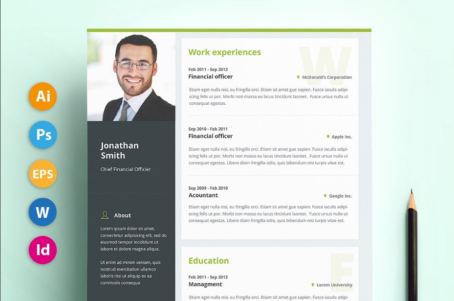 professional material design resume templates template free product images cv creative Resume Material Design Resume Template Free