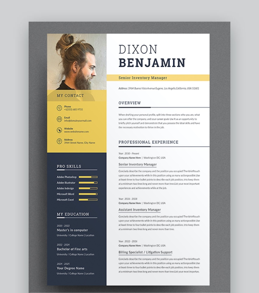 professional ms word resume templates simple cv design formats best template modern pants Resume Best Resume Template Word 2020