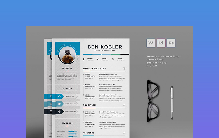 professional ms word resume templates simple cv design formats two template validator Resume Two Page Resume Template Word