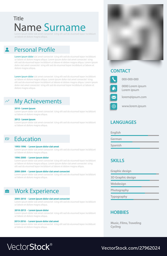 professional personal resume cv in bright colors vector image draft example rbc sample Resume Professional Resume Colors