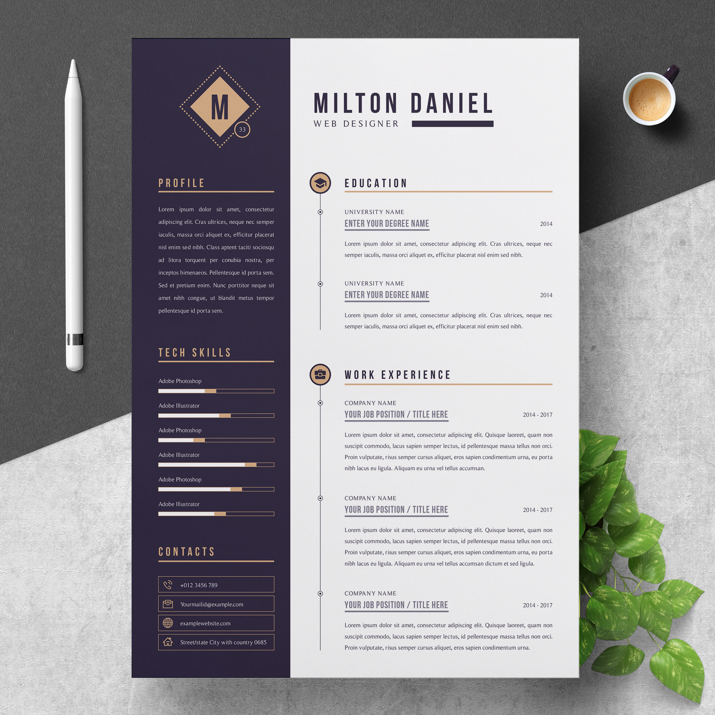 professional resume cv template resumeinventor for photoshop job clean creative and Resume Resume For Photoshop Job