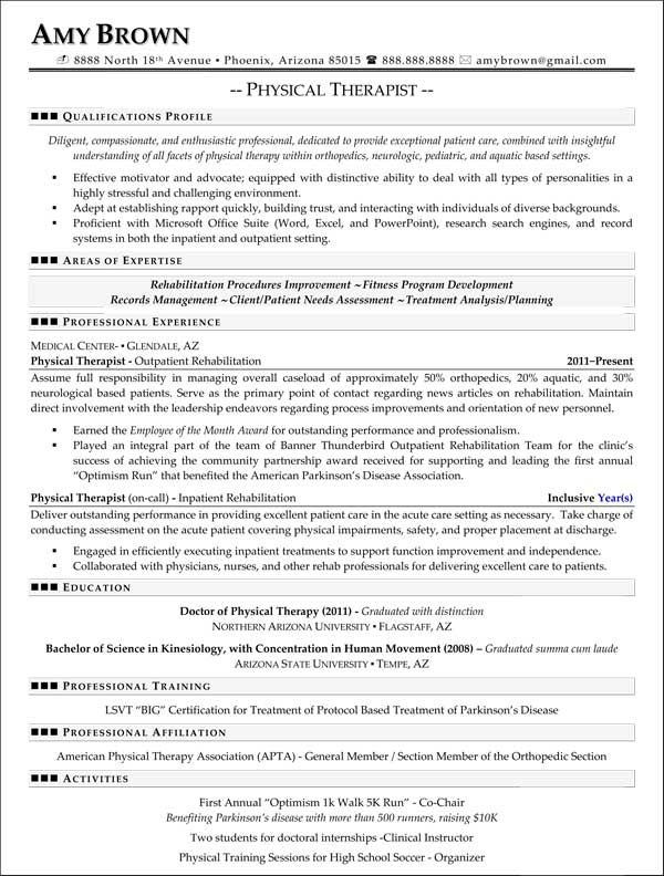 professional resume samples best templates medical good examples physical therapist Resume Physical Therapist Resume