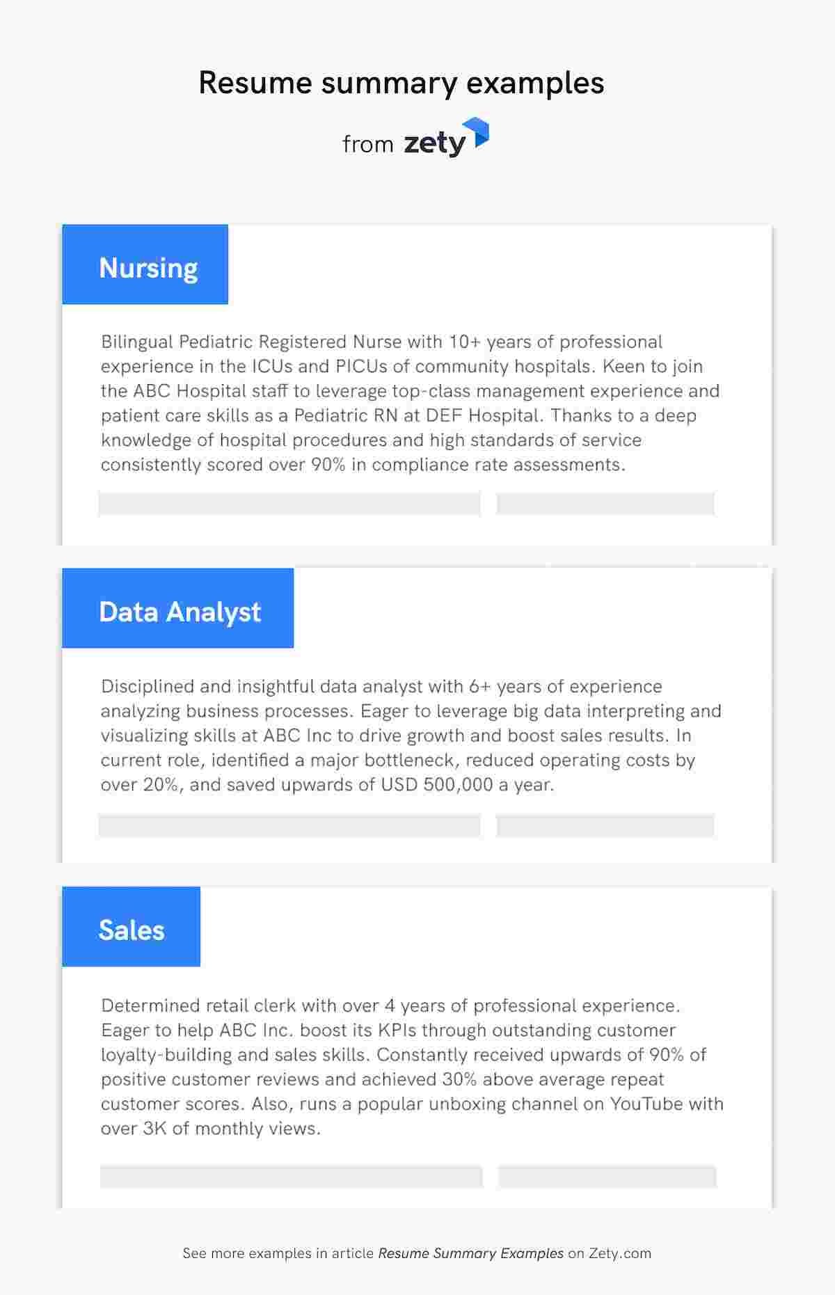professional resume summary examples statements finish your with short excellent Resume Finish Your Resume With A Short Professional Summary