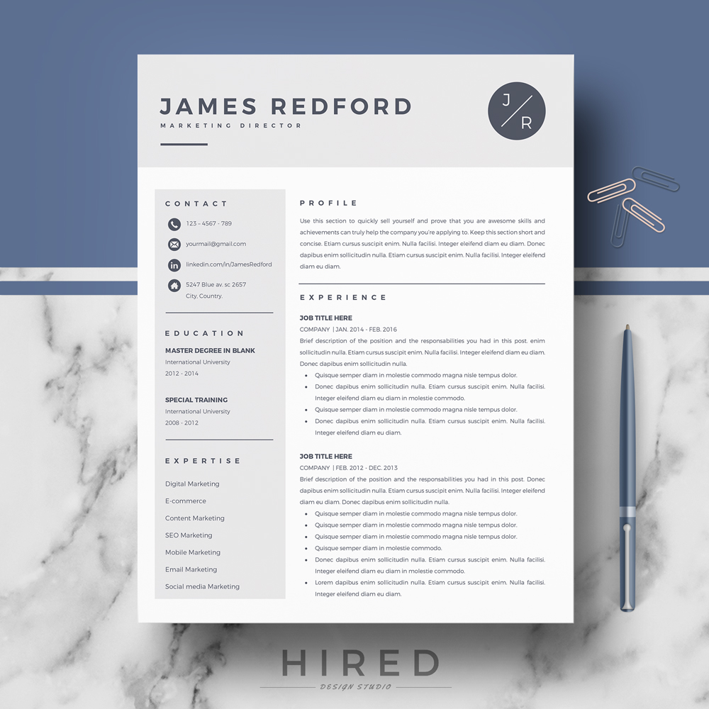 professional resume template for mac and word on behance free builder macbook experienced Resume Free Resume Builder For Macbook