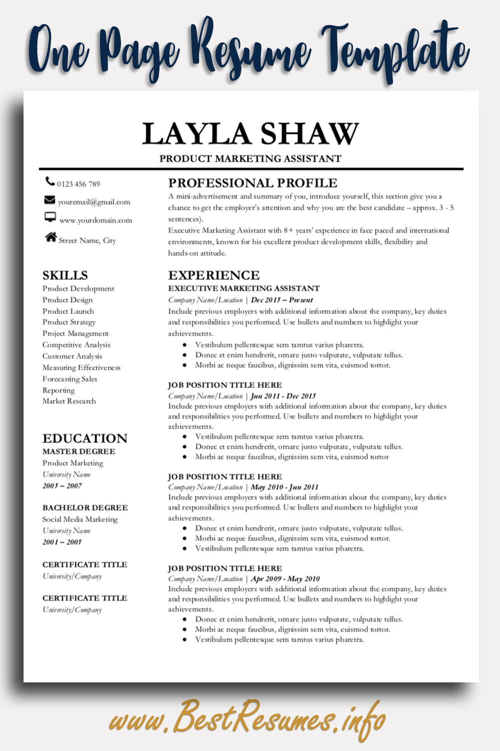 professional resume template layla shaw bestresumes info business first job number Resume Resume Page Number Location