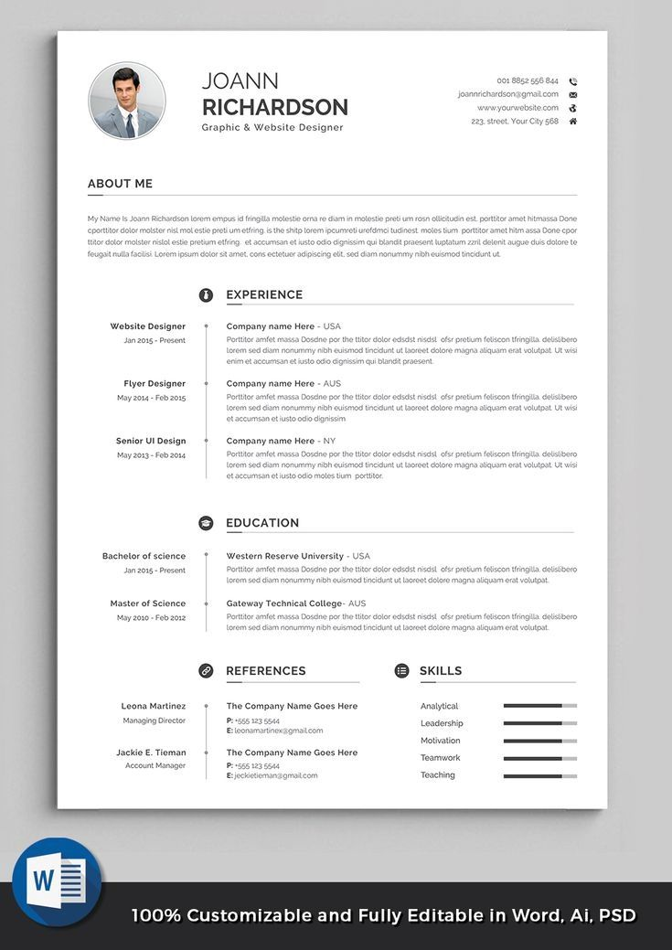 professional resume template modern and creative etsy words high quality templates Resume High Quality Resume Templates