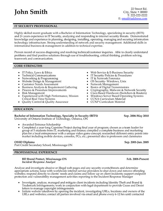 professionals resume templates samples executive packages profesisonal it security Resume Executive Resume Packages