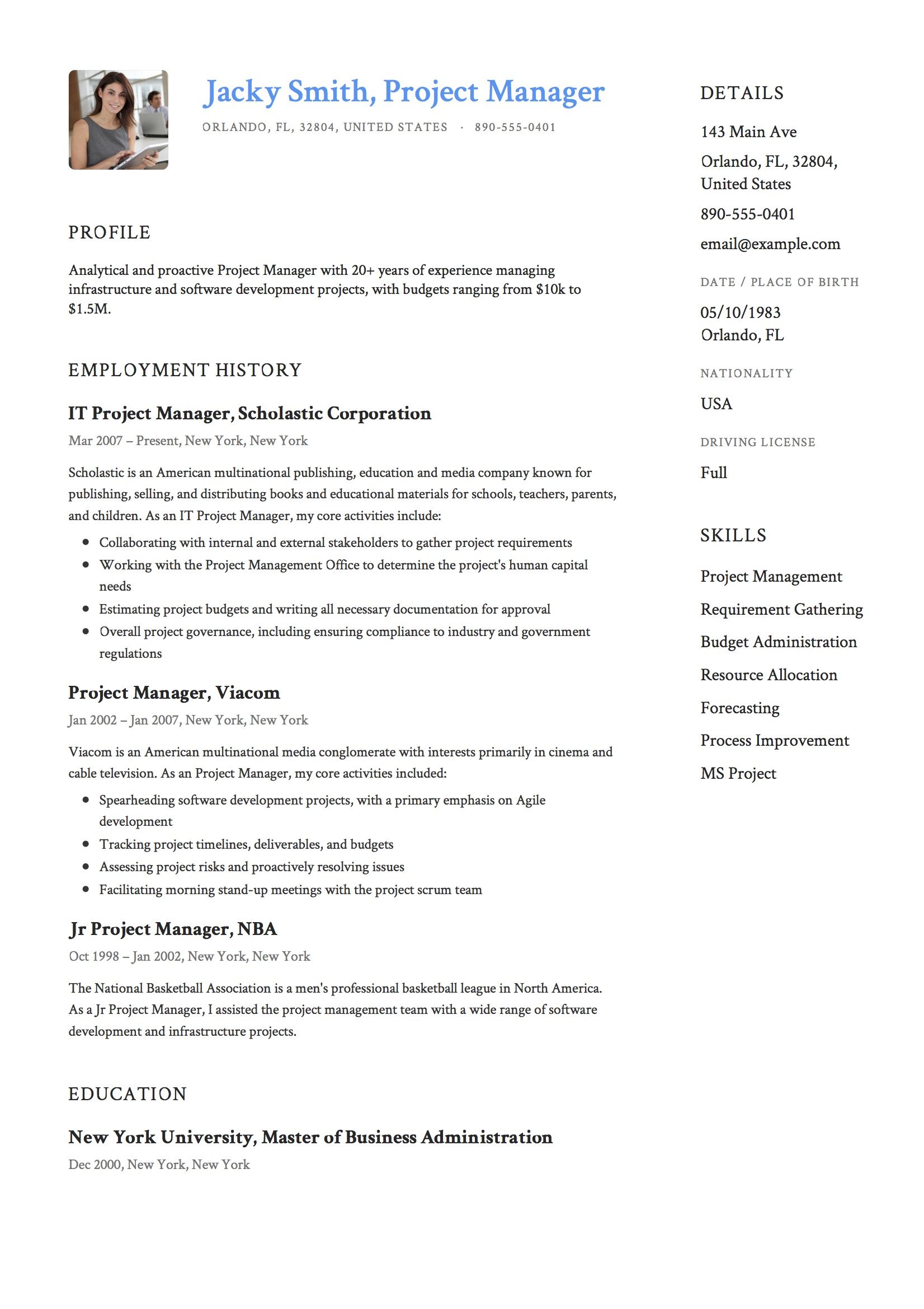 project manager resume examples full guide pdf word sample english teacher format letter Resume Project Manager Resume 2020