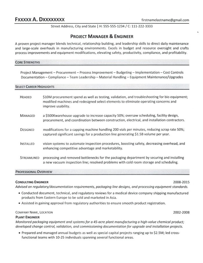 project manager resume healthcare sample junior electrician civil autocad college Resume Healthcare Project Manager Resume