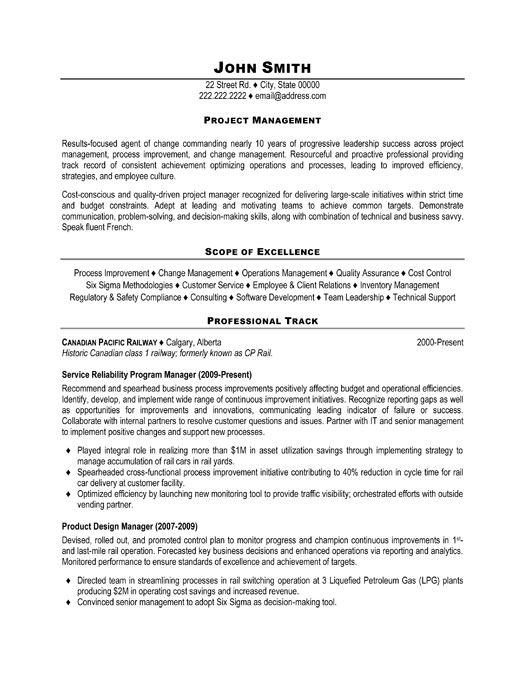 project manager resume template premium samples example sample change management fashion Resume Change Management Resume