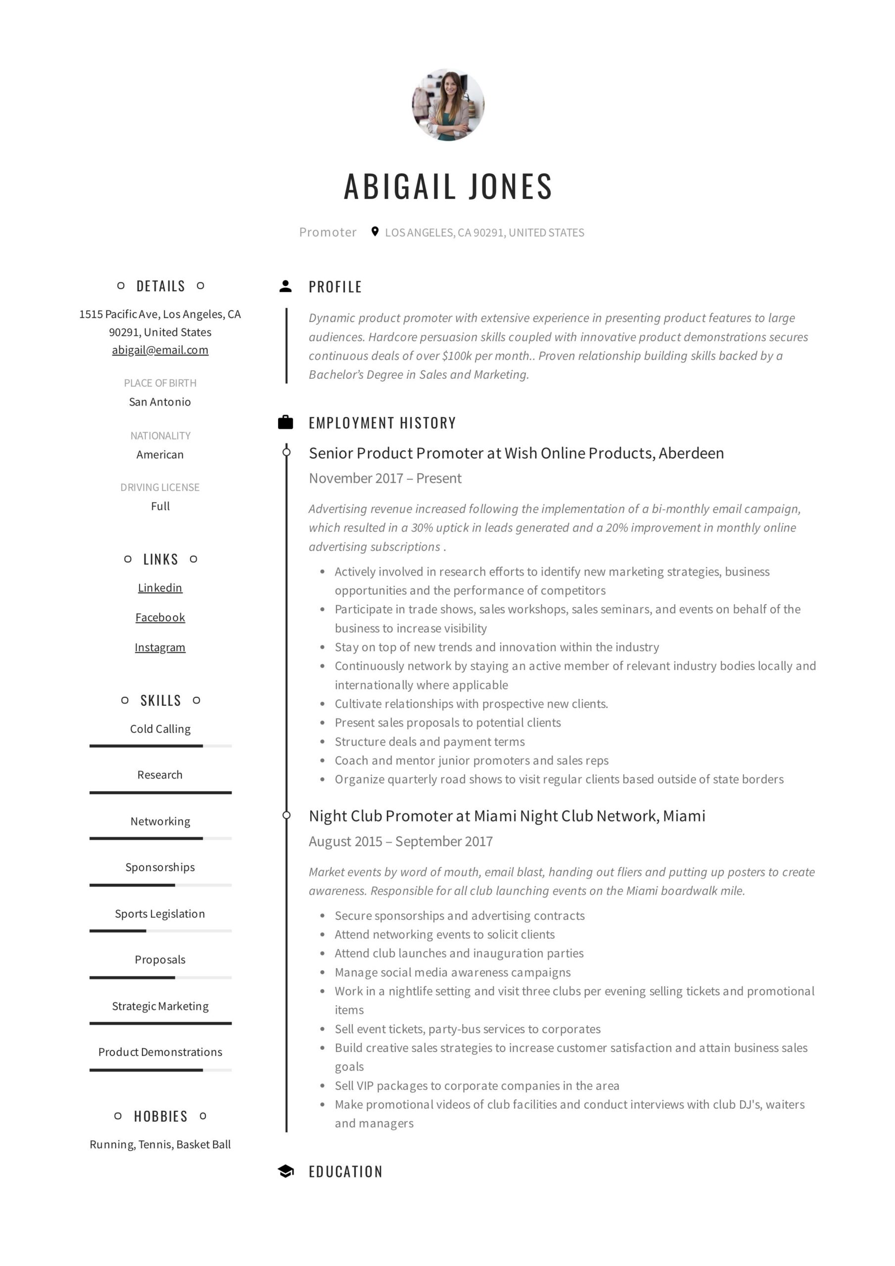 promoter resume example in examples guided writing job description for pandora public Resume Promoter Job Description For Resume