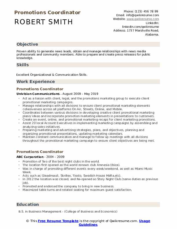 promotions coordinator resume samples qwikresume with within the same company pdf Resume Resume With Promotions Within The Same Company