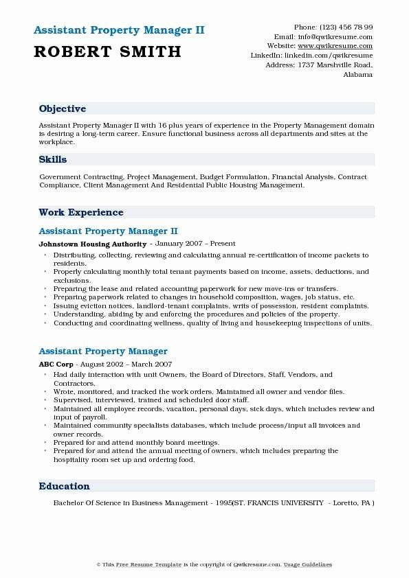property management resume examples beautiful assistant manager samples job simple Resume Assistant Property Manager Resume