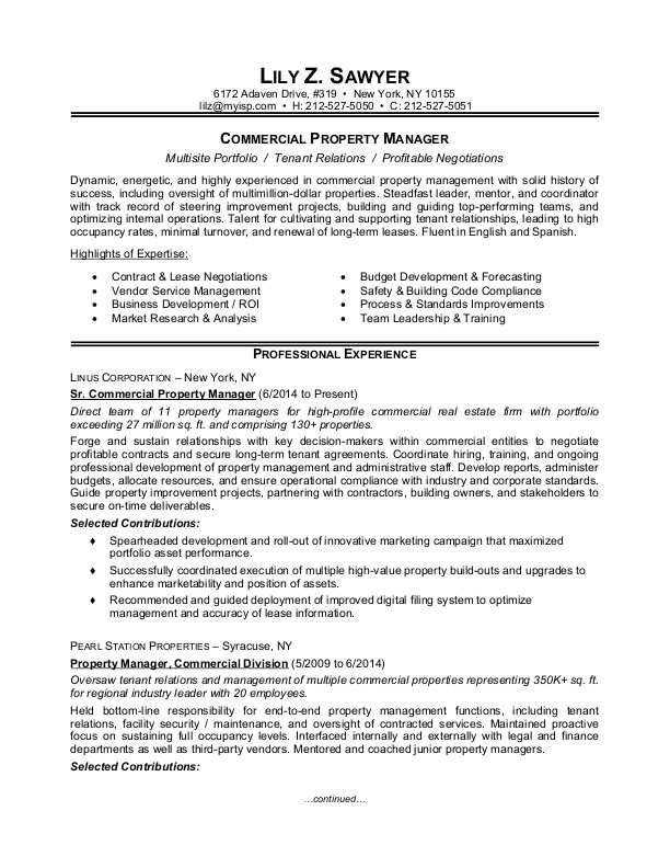 property manager resume sample monster community objective commercial harvard examples Resume Community Manager Resume Objective