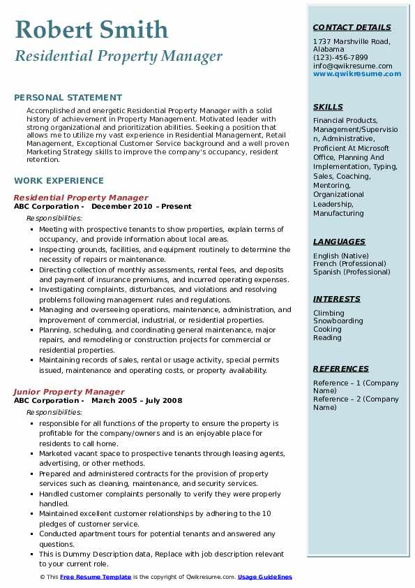 property manager resume samples qwikresume management objective pdf examples for quality Resume Property Management Objective Resume