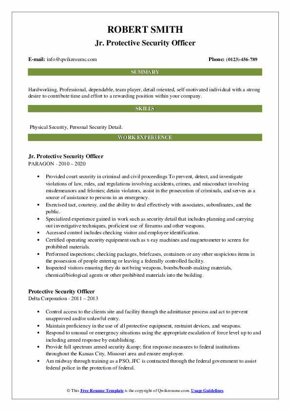 protective security officer resume samples qwikresume personal detail pdf fast food Resume Personal Security Detail Resume
