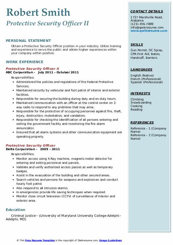 protective security officer resume samples qwikresume personal detail pdf mba application Resume Personal Security Detail Resume