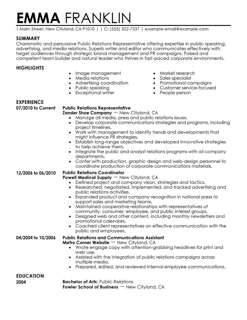 public relations resume template latest format examples quotes paper watermark direction Resume Public Relations Resume