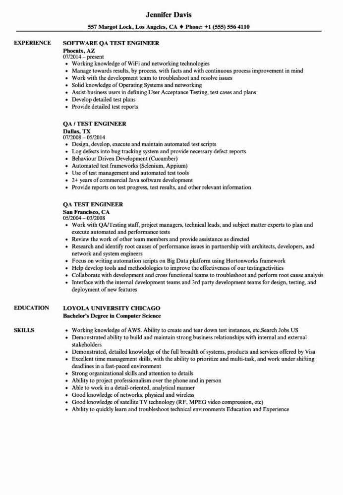 qa tester resume with years experience in images no network engineer year sample Resume Network Engineer Resume With 2 Year Experience