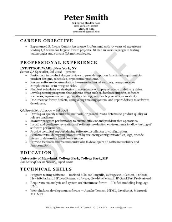 quality assurance engineer good resume examples free experience core functional template Resume Quality Assurance Experience Resume
