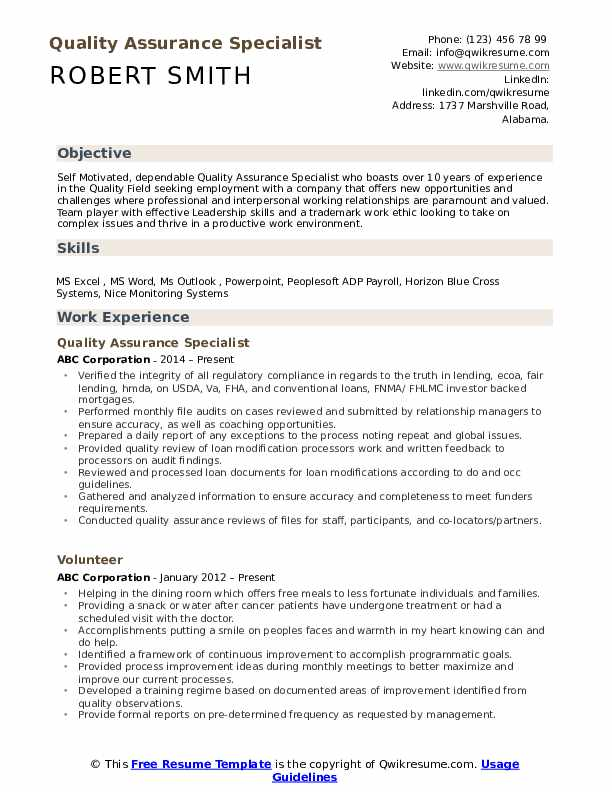 quality assurance specialist resume samples qwikresume experience pdf medical reviewer Resume Quality Assurance Experience Resume