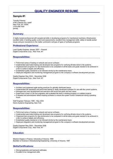 quality engineer resume examples objective sample image salesforce admin for years Resume Quality Engineer Resume Objective
