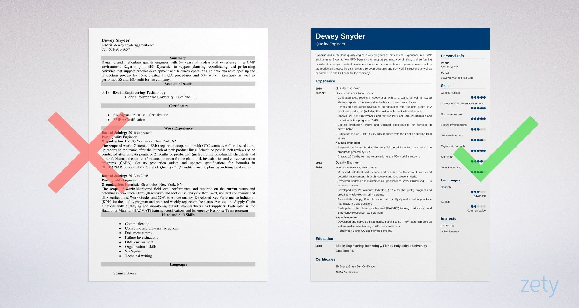 quality engineer resume sample writing guide tips example hospital registration aws Resume Quality Engineer Resume Download