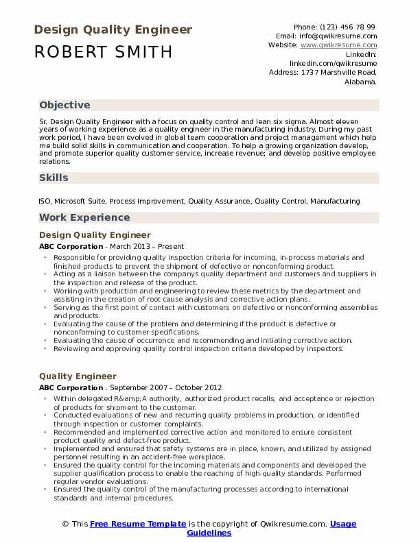quality engineer resume samples qwikresume objective pdf airport security marketing Resume Quality Engineer Resume Objective