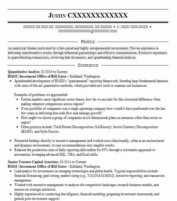 quantitative analyst resume example ever bright group llc new research project Resume Quantitative Research Resume