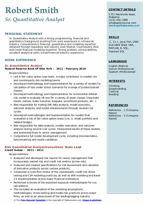 quantitative analyst resume samples qwikresume research pdf baby cosmetic chemist project Resume Quantitative Research Resume